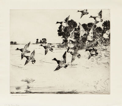Frank Weston Benson, 'The Passing Flock', 1927
