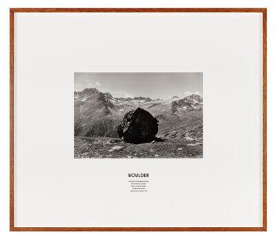 Hamish Fulton, 'Boulder, Switzerland 1995', 1995