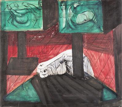 Bruno Cassinari, 'Interno con testa di cavallo', 1967