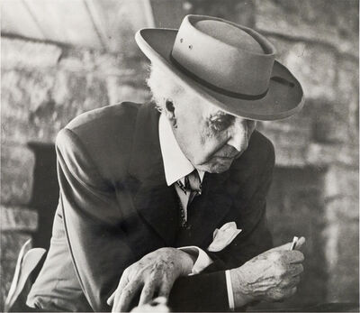 Pedro E. Guerrero, 'Frank Lloyd Wright at the Reisley's ', 1952