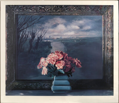 Ben Schonzeit, 'Roses with Dutch Landscape', 1990