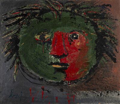 Enrico Baj, 'Testa solare', 1953-54