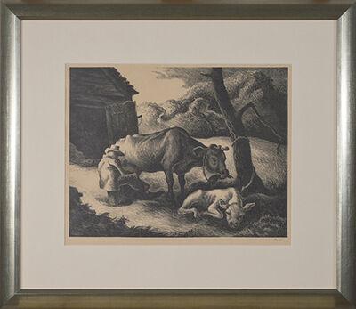 Thomas Hart Benton, 'White Calf', 1945