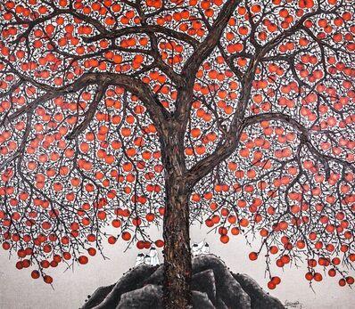 Sanzi 散子, '柿熟实收 Persimmon Harvest (Limited print)'