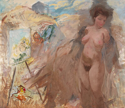 George Grosz, 'Maler und Modell in den Dünen ', 1939