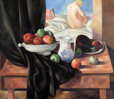 B. J. O. Nordfeldt, 'Still Life w/Fruit', unknown