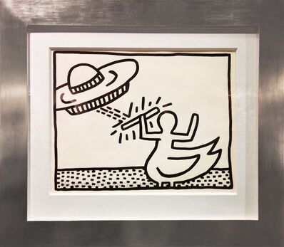Keith Haring, 'Untitled, 1981 ('duckperson' and UFO)', 1981