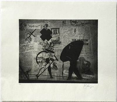 William Kentridge, 'Nose Projection with Walking Woman (from Nose Portfolio)', 2010