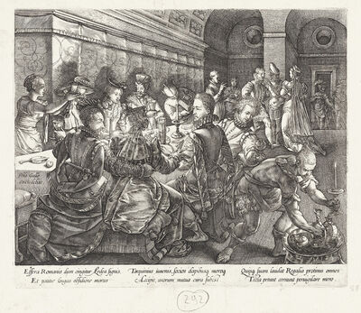 Hendrik Goltzius, 'The Feast of Tarquinius Collatinus', 1580