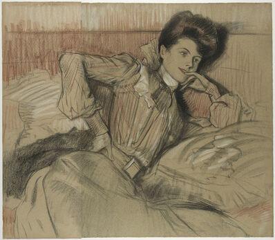 Pierre Georges Jeanniot, 'Femme allongée'