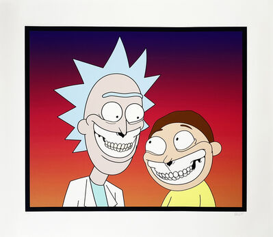 Ron English, ''Rick & Morty Grin'', 2020