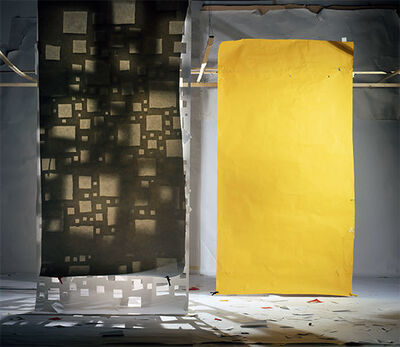 David Haxton, 'Holes In White Masked in Yellow', 2009