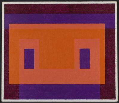 Josef Albers, 'Variant/Adobe, Orange Front', 1948-1958
