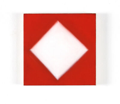 Peter Lodato, 'White Diamond Red Ground', 2017