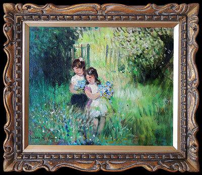 Jules René Hervé, 'Jules R. Herve Original Oil Painting on Canvas Signed Portrait Landscape Art', 20th Century