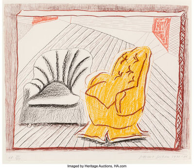 David Hockney, 'A Picture of Two Chairs, from Moving Focus', 1985-86