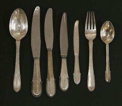 Georg Jensen, 'Georg Jensen 'Bead' pattern silver cutlery'