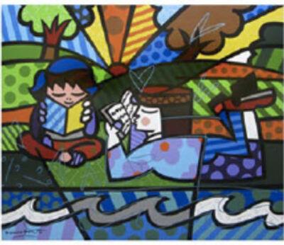 Romero Britto, 'Story Teller'