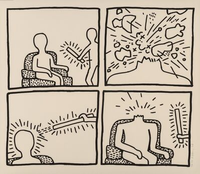 Keith Haring, 'Untitled (The Blueprint Drawings - No. 14)', 1990