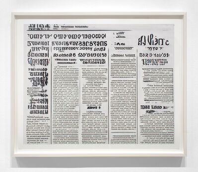 Jason Salavon, 'Narrative Frame (Newspapers 1)', 2019