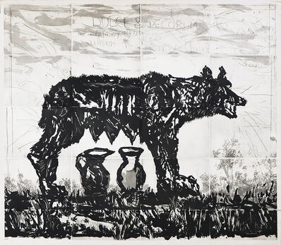 William Kentridge, 'She-wolf and Jugs', 2020