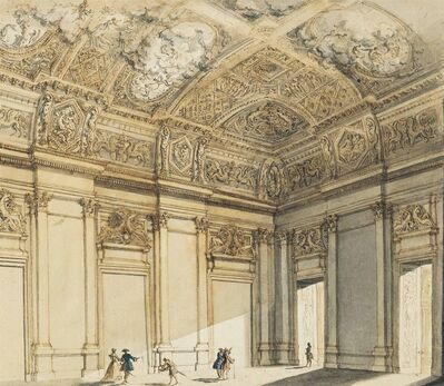 Francesco Panini, 'The interior of a palace'