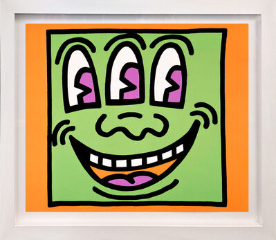 Keith Haring, 'THREE EYES (FROM ICON SERIES)', 1990