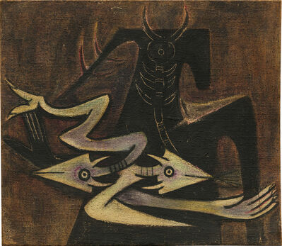 Wifredo Lam, 'The Warrior (Personnage avec lézard)', 1947