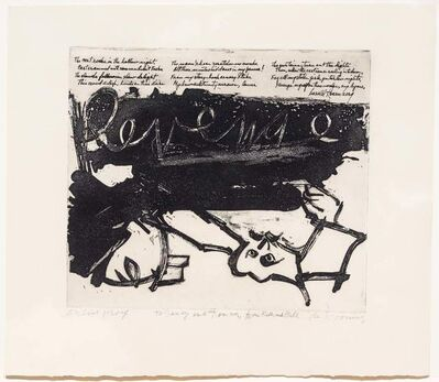 Willem de Kooning, 'Revenge', 1960
