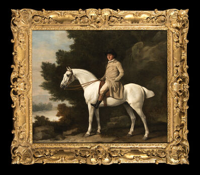 George Stubbs, 'Portrait of a Gentleman upon a Grey Hunter', 1781