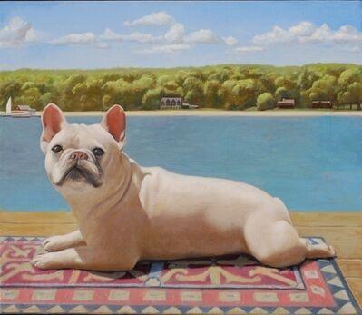 Ron Schwerin, 'Dog on Dock'