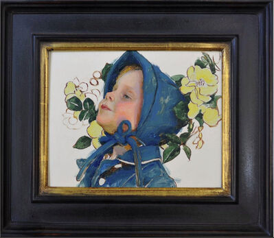 Mary Sauer, 'Sketch of a Child in Yellow Roses', 2019