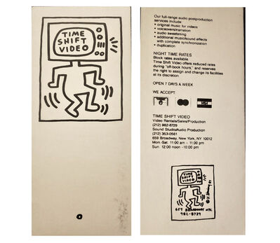 """Keith Haring, '""""Time Shift Video"""", Store Brochure (graphics by Haring), Card Stock, RARE', 1987"""