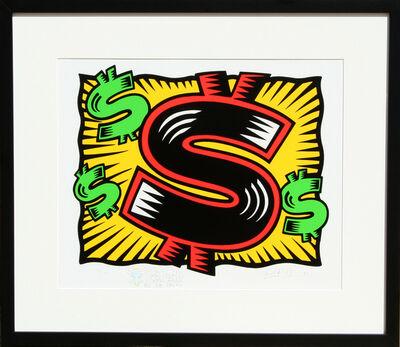 Burton Morris, 'Dollar Sign (Deluxe)', 1997