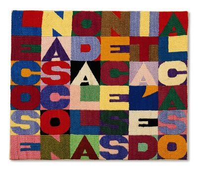 Alighiero Boetti, 'Le cose nascono dalla necessità e dal caso', 1988