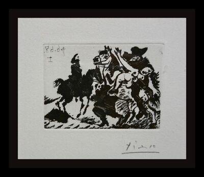 Pablo Picasso, 'Reitre Enlevant One Femme Pour Le Compte D'un Cavalier', 1968