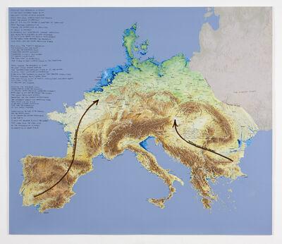 Newton Harrison & Helen Mayer Harrison, 'Force Majeur Variation: Peninsula Europe', 2011