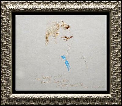 LeRoy Neiman, 'LeRoy Neiman Original Drawing Pastel Color Ink Signed Norton Holmes Boxing Art', 20th Century