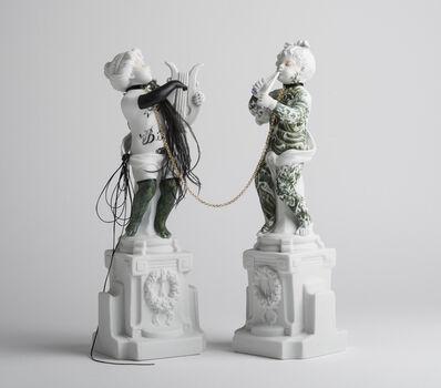 """Armando de la Garza, '#07 from the """"Los Infortunios de la virtud"""" Two Antique Intervened Porcelain', 2018"""