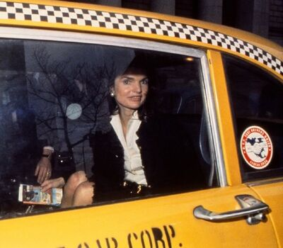 Harry Benson, 'Jackie in Yellow Taxi', 1972