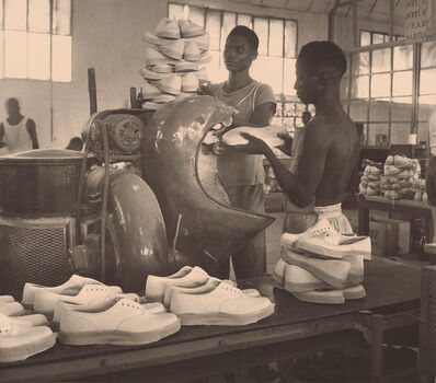 François Kollar, 'Chaussures Bata, Rufisque, Sénégal', 1951