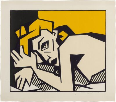 Roy Lichtenstein, 'Reclining Nude, from Expressionist Woodcut Series ', 1980