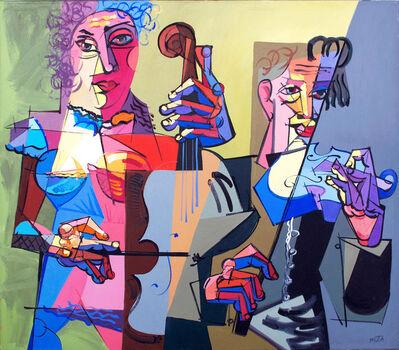 Rimvydas Pupelis Muta, 'Two Violinists', 2016