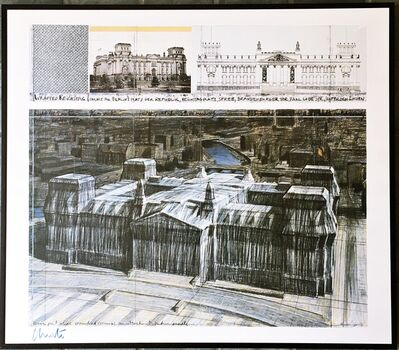 Christo, 'Wrapped Reichstag (Hand Signed)', 1994