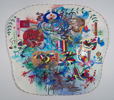 Jiha Moon, 'Big Pennsylvania Dutch Korean Painting', 2011