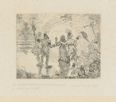 James Ensor, 'Les Diables Dzitts et Hihanox conduisant le Christ aux Enfers (The Devils Dzitts and Hihanox leading Christ to Hell)', 1895