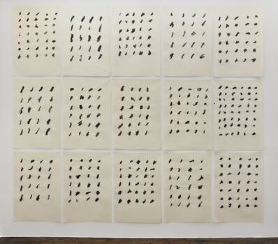 Rolf Julius, 'Untitled, Watercolor Dots', 1981