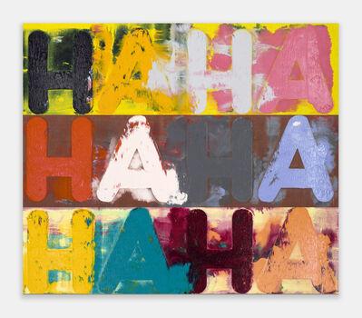 Mel Bochner, 'Ha Ha Ha', 2018