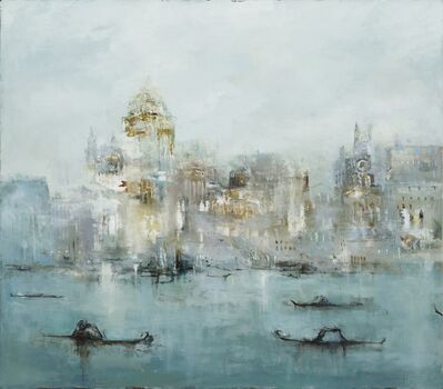 France Jodoin, 'The golden fog that rubs its back upon the window panes (part I)', 2018