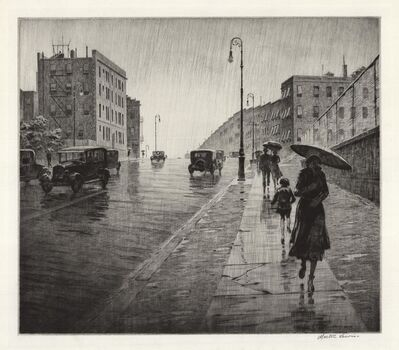 Martin Lewis, 'Rainy Day, Queens.', 1931